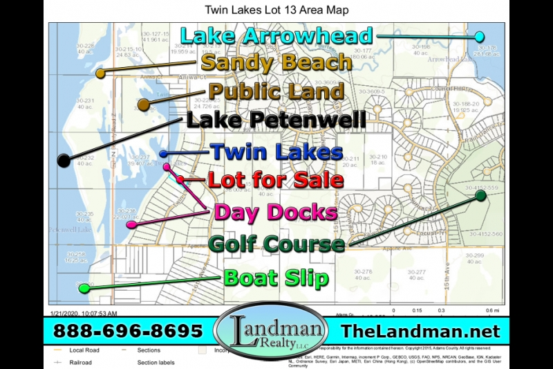 Twin Lakes Lot for Sale & Boat Slip by Snowmobile Trails