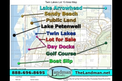 1875311, Twin Lakes Lot for Sale & Boat Slip by Snowmobile Trails