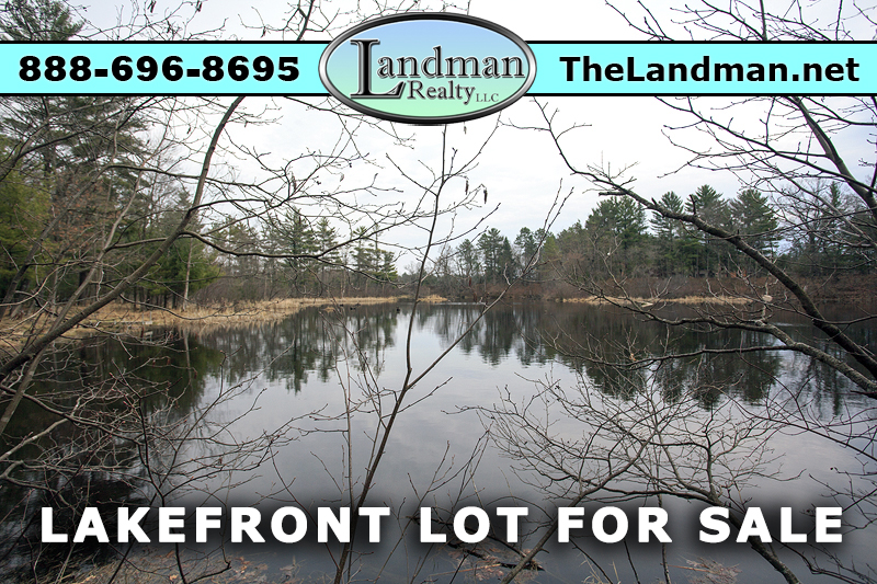 Friendship Lake Waterfront lot for Sale by Snowmobile Trails