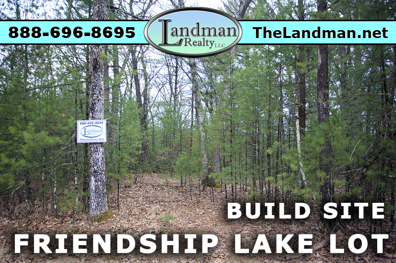 Friendship Lake Lot for Sale by Snowmobile Trails