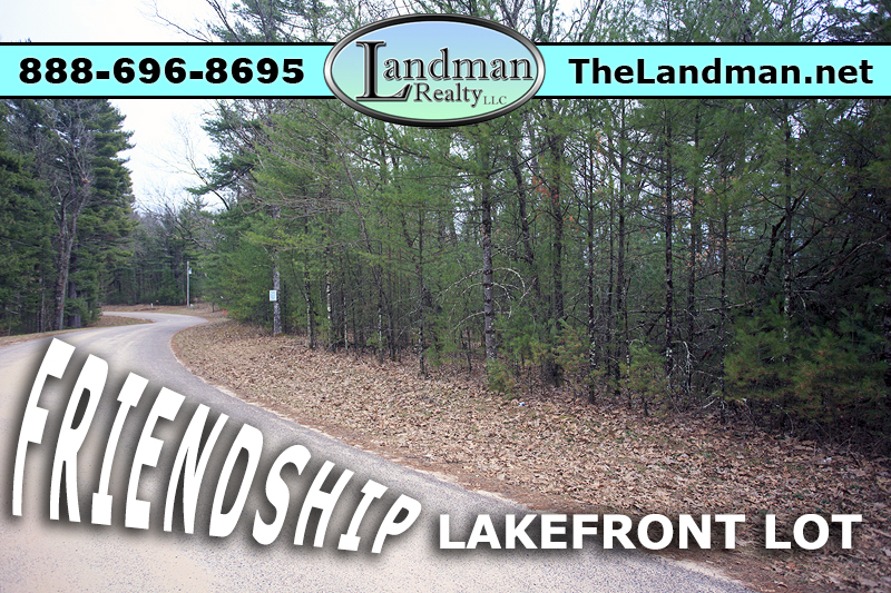 Friendship Lakefront Building Site Property for Sale by Snowmobile Trails
