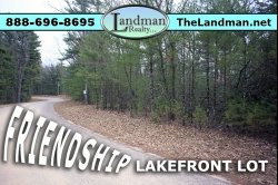 1881313, Friendship Lakefront Building Site Property for Sale by Snowmobile Trails
